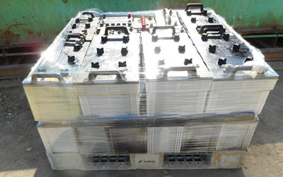 カーバッテリー(500kg以上) パレット積み・ラップがけ